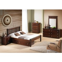 Full Contempo Bed - Cappuccino