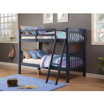 Twin/Twin Mission Bunk Bed - Navy