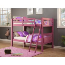 Twin/Twin Mission Bunk Bed - Pink