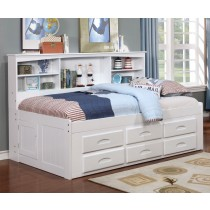 White Bookcase Daybed - Twin Size