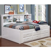 White Bookcase Daybed - Full Size
