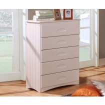 5 Drawer Chest - White