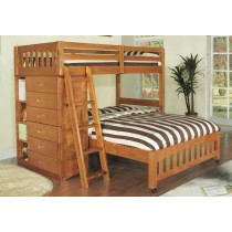 Honey Twin over Full Loft Bed