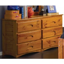 6 Drawer Dresser- Honey