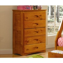 5 Drawer Chest - Honey