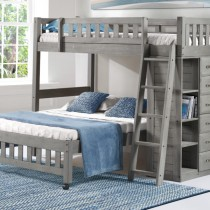 Charcoal Twin over Full Loft Bed