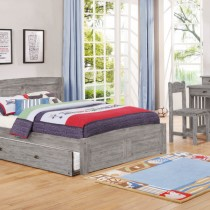 Grey Full Platform Bed