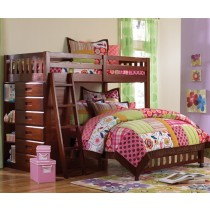 Merlot Twin over Full Loft Bed