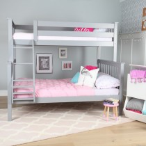 M3 Twin/Full Solid Pine Bunk Bed - Grey