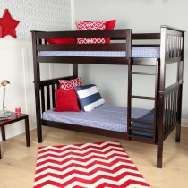 M3 Twin/Twin Solid Pine Bunk Bed - Espresso