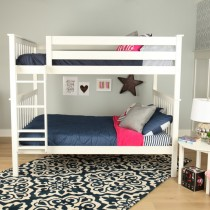 M3 Twin/Twin Solid Pine Bunk Bed - White