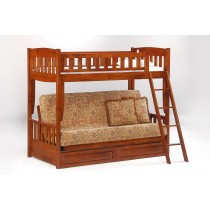 Cinnamon Twin over Futon Bunk - Cherry