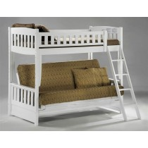 Cinnamon Twin over Futon Bunk - White