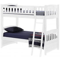 Cinnamon Twin/ Twin Bunk Bed - White