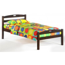 Twin Sesame Bed in Chocolate