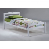 Twin Sesame Bed in White