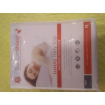 SlumberShield Luxury Terry Top Mattress Protector Twin Size