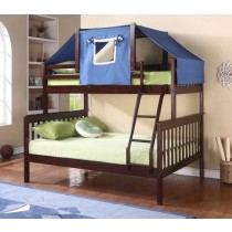 Cappuccino and Blue Bunk Bed Top Tent