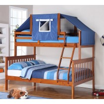 Espresso And Blue Bunk Bed Top Tent