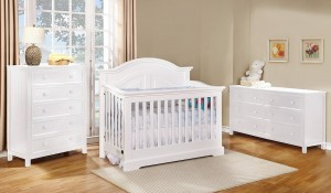 Waterford Curved Top Conversion Crib - White