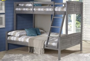 Twin/Full Louver Bunkbed - Antique Grey