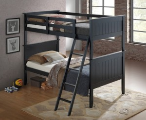 Twin/Twin Panel Bunk Bed - Black